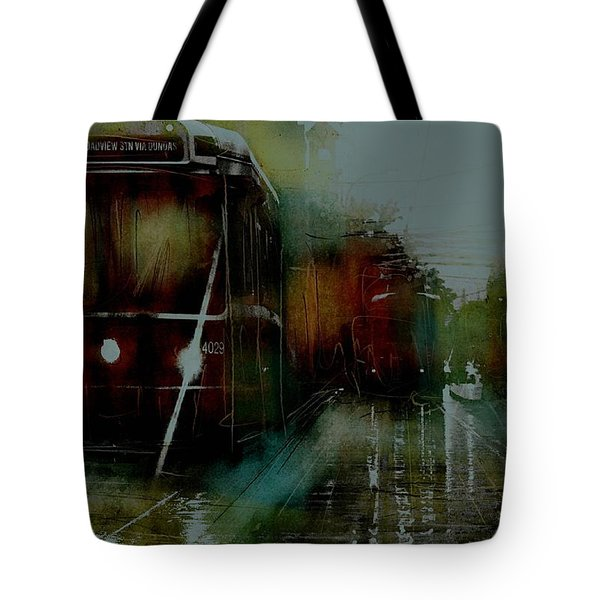 Rainy Day On The Ttc Tote Bag by Jim Vance