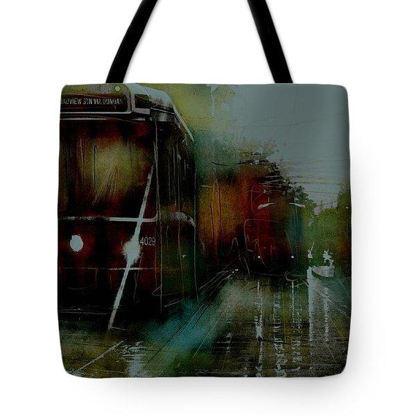 Rainy Day On The Ttc Tote Bag