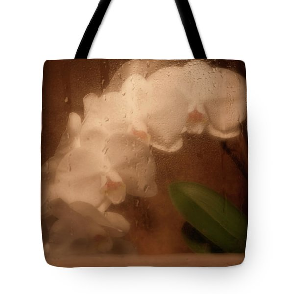 Rainy Day Orchid Tote Bag