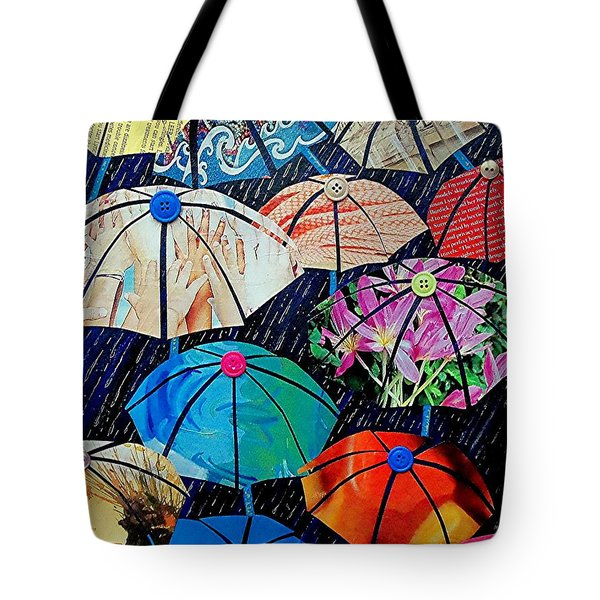 Rainy Day Personalities Tote Bag by Susan DeLain