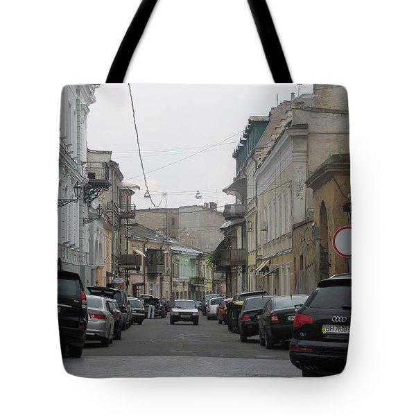Rainy Day Street Tote Bag