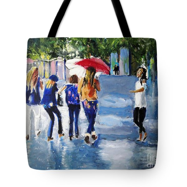 Rainy Days And Mondays Tote Bag by Judy Kay
