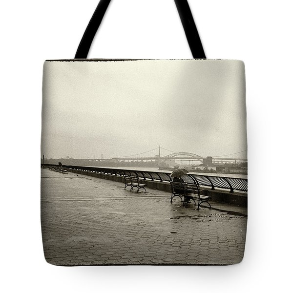 Tote Bag featuring the photograph Rainy Days Sepia by Dave Beckerman