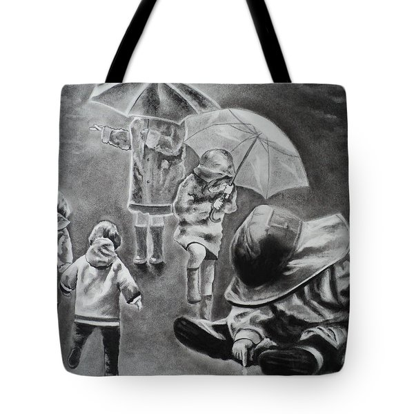 Rainy Daze Tote Bag by Carla Carson