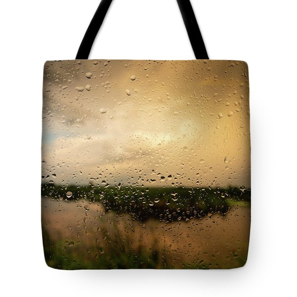 Rainy Dusk Over Horicon Marsh Wisconsin Tote Bag