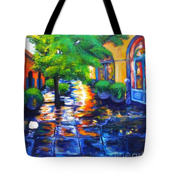 Rainy Dutch Alley Tote Bag