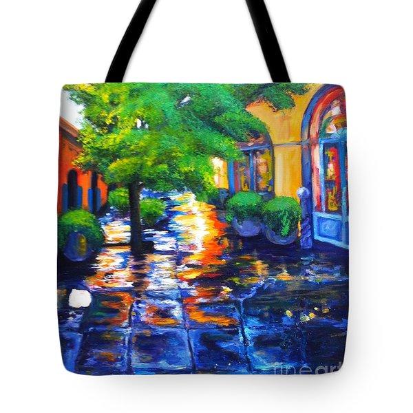 Rainy Dutch Alley Tote Bag
