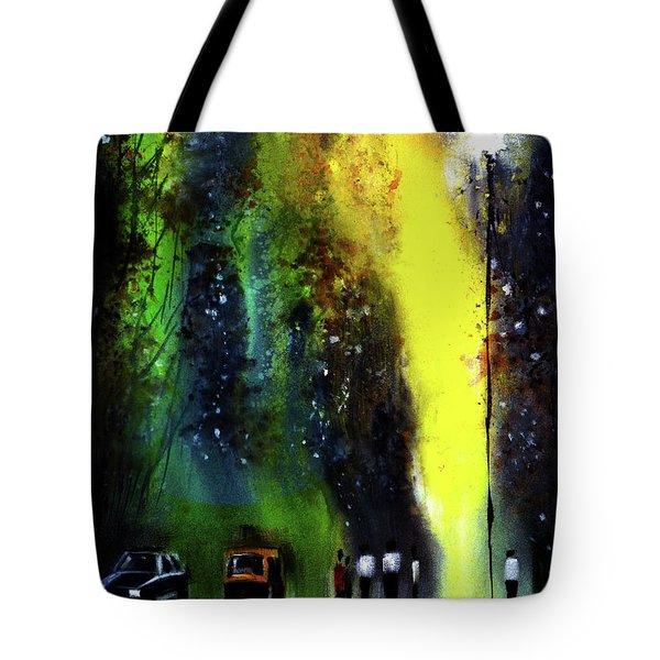 Rainy Evening Tote Bag