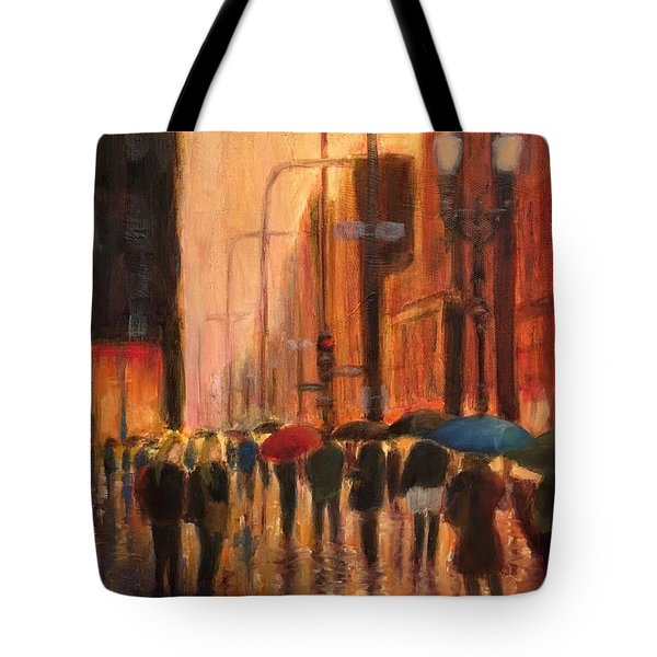 Rainy Evening Chicago Tote Bag
