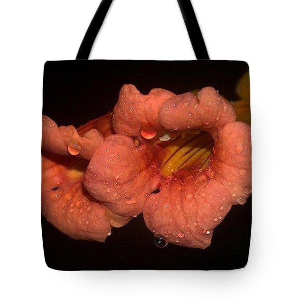 Rainy Flower Tote Bag