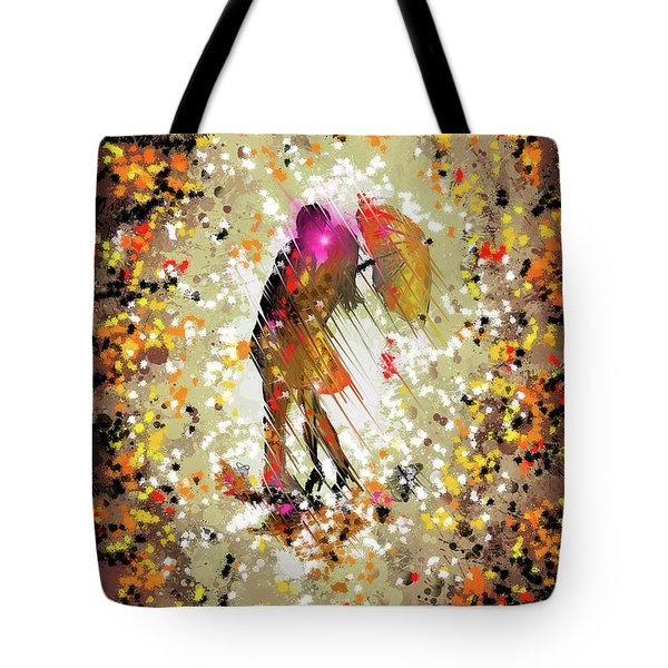 Tote Bag featuring the digital art Rainy Love by Darren Cannell
