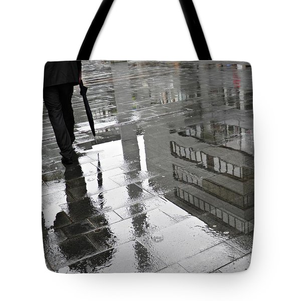 Rainy Morning In Mainz Tote Bag by Sarah Loft