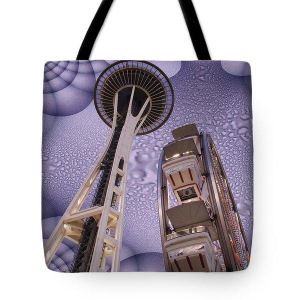 Rainy Needle Tote Bag