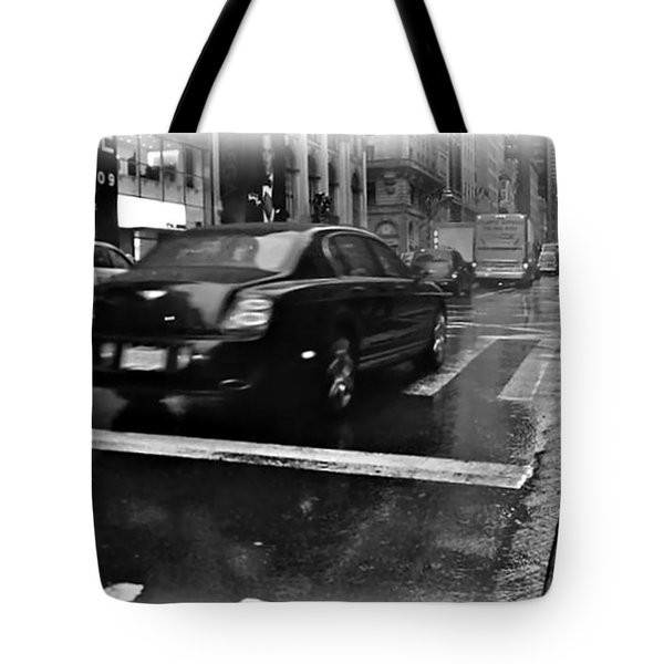 Rainy New York Day Tote Bag