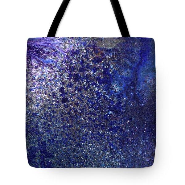 Rainy Night - Blue Contemporary Abstract Art Tote Bag