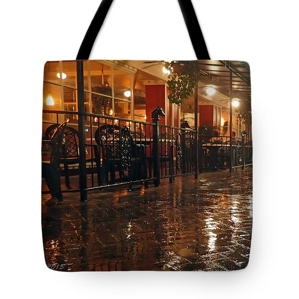 Rainy Night In Gainesville Tote Bag