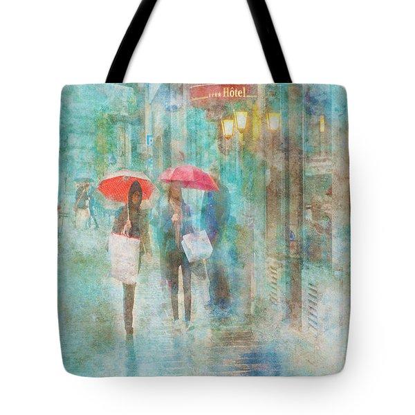 Rainy In Paris 4 Tote Bag