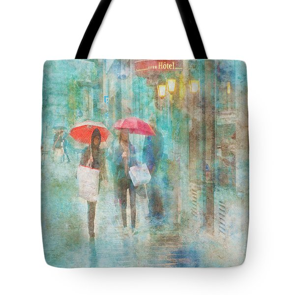 Rainy In Paris 4 Tote Bag