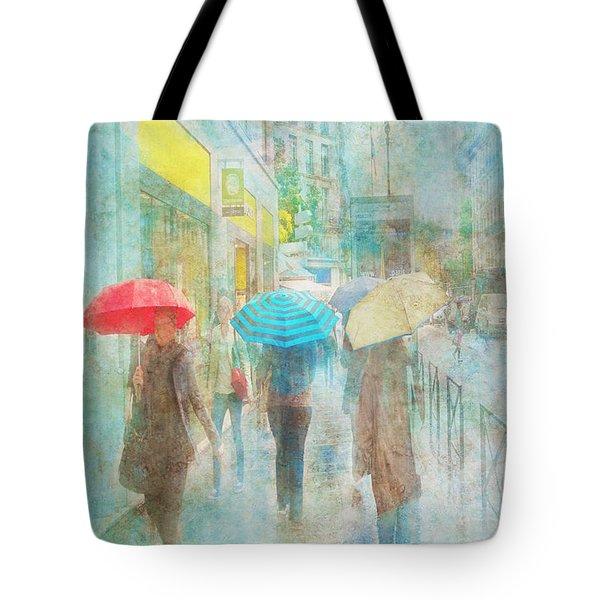Rainy In Paris 5 Tote Bag