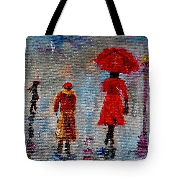 Rainy Spring Day Tote Bag