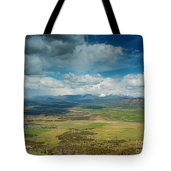 Rainy Storm Clouds Mesa Verde National Park Tote Bag by Nature Scapes Fine Art