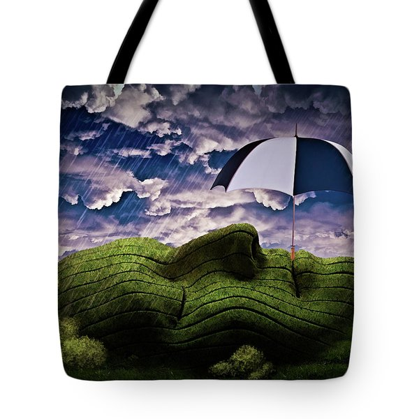 Rainy Summer Day Tote Bag by Mihaela Pater