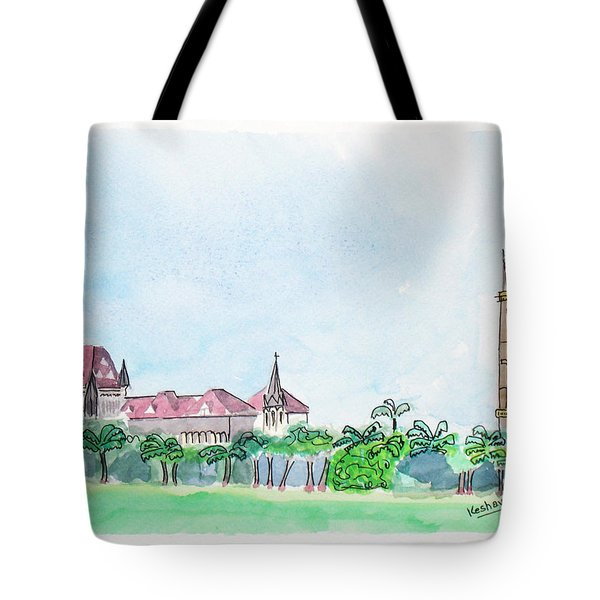 Rajabai Clock Tower And Bombay High Court Tote Bag