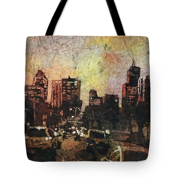 Raleigh At Night Tote Bag