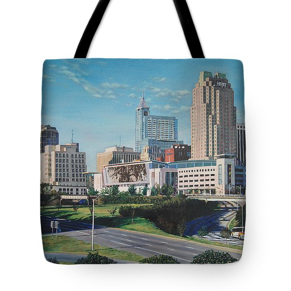 Raleigh Downtown Realistic Tote Bag