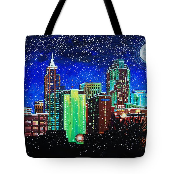 Raleigh In Winter Tote Bag