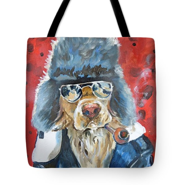 Tote Bag featuring the painting Ralph by P Maure Bausch
