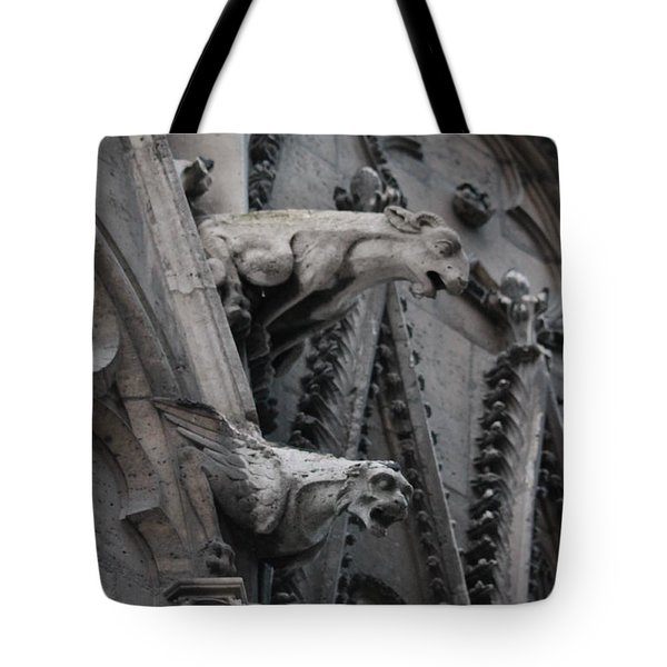 Ram And Eagle Griffon Notre Dame Tote Bag