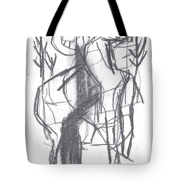 Ram In A Forest Tote Bag