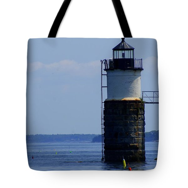 Ram Island Light Tote Bag