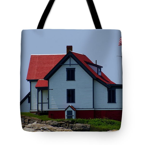 Ram Island  Tote Bag by Lois Lepisto