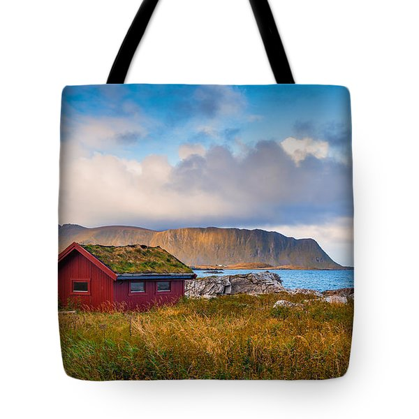 Tote Bag featuring the photograph Ramberg Hut by James Billings