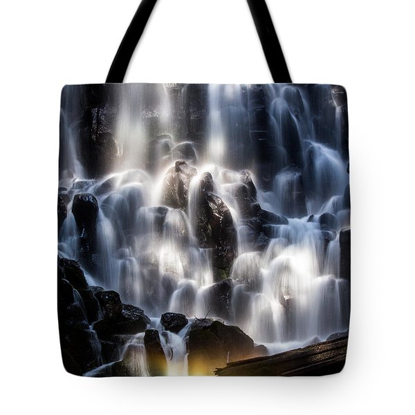 Ramona Falls With Rainbow Tote Bag by Patricia Babbitt