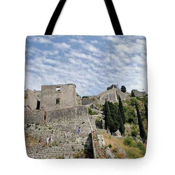 Ramparts Of Montenegro Tote Bag