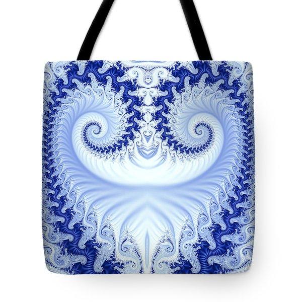 Ram's Horn Blue Tote Bag