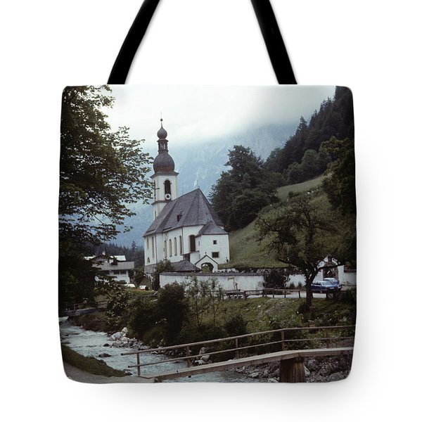 Tote Bag featuring the photograph Ramsau Church by Donald Paczynski