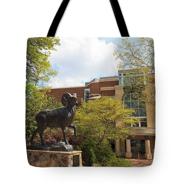 Ramses The Bighorn Ram Sculpture Tote Bag