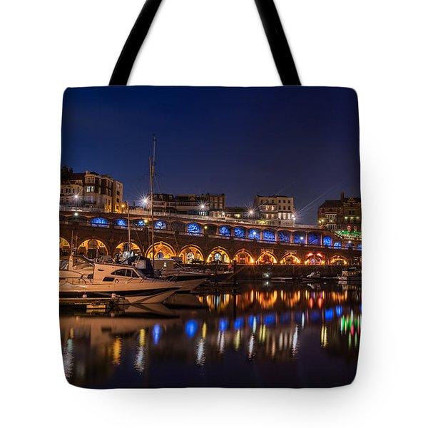 Ramsgate Marina At Night Tote Bag