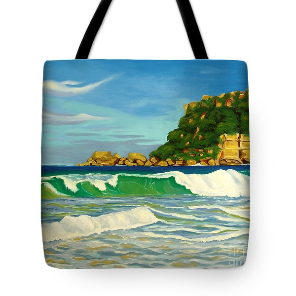 Ramy Base Beach Tote Bag by Milagros Palmieri