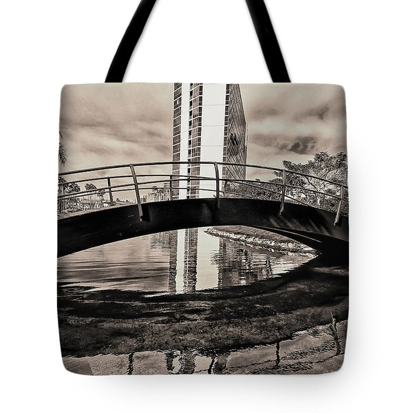 Tote Bag featuring the photograph Ranbow Bridge by Joseph Hollingsworth