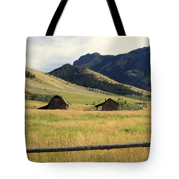 Ranch Along Tom Miner Road Tote Bag by Marty Koch