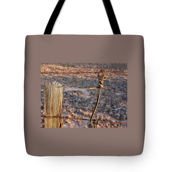 The Old Ranch Fence Tote Bag