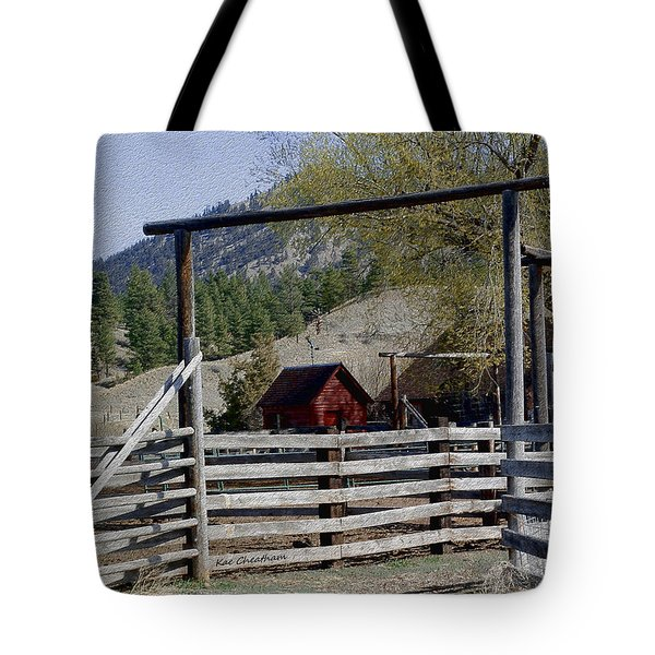 Ranch Fencing And Tool Shed Tote Bag