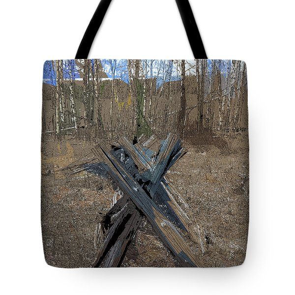 Ranch Fencing Tote Bag