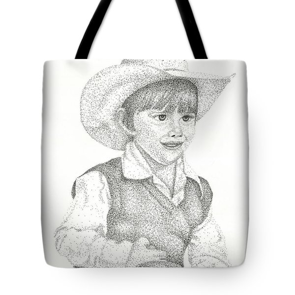 Tote Bag featuring the drawing Ranch Hand by Mayhem Mediums