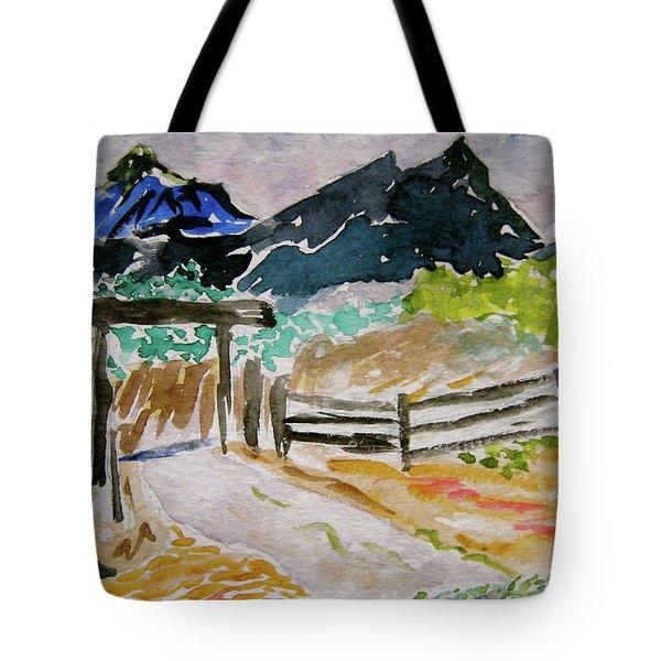 Ranch Outside Salida Tote Bag